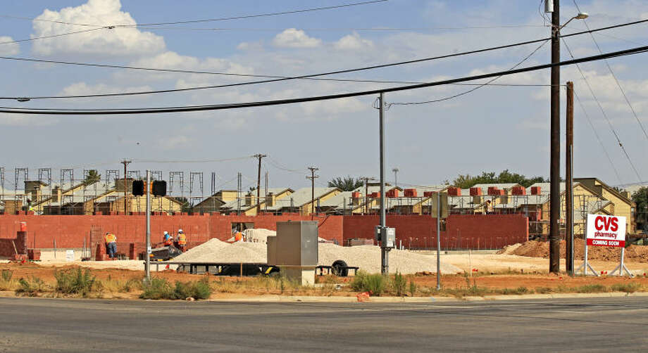 A CVS Pharmacy under construction at the intersection of Holiday Hill and Briarwood on Wednesday. James Durbin/Reporter-Telegram Photo: James Durbin