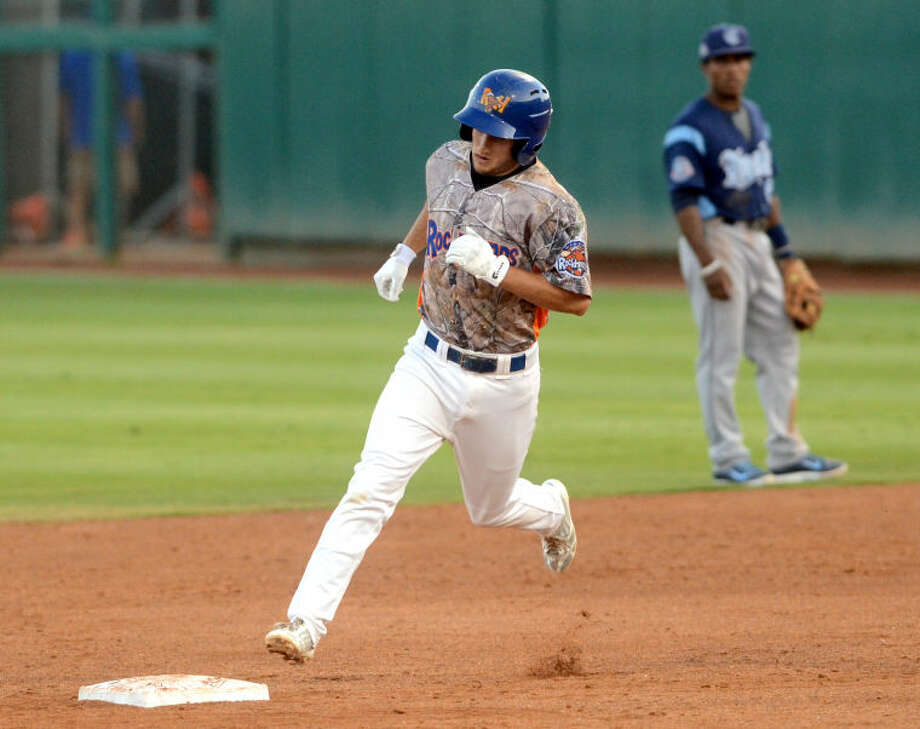 Rockhounds' Conner Crumbliss rounds the bases during the game against Corpus Christi on Friday at Security Bank Ballpark. James Durbin/Reporter-Telegram Photo: James Durbin