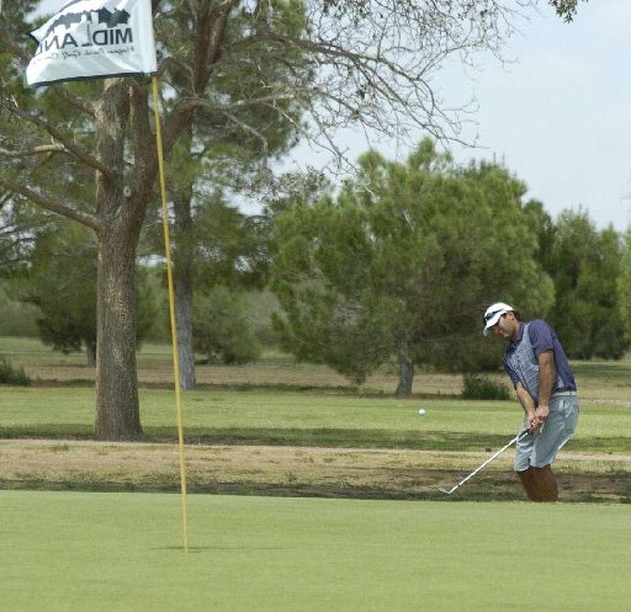 Omar Sanchez, seen here putting into the green during the Midland Men's City Golf Championship, won the 2012 tournament.Len Hayward/Midland Reporter-Telegram Photo: Len Hayward