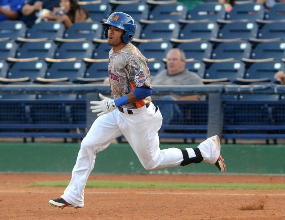 Rockhounds' Kenny Wilson rounds the bases during the game against Corpus Christi on Friday at Security Bank Ballpark. James Durbin/Reporter-Telegram Photo: James Durbin