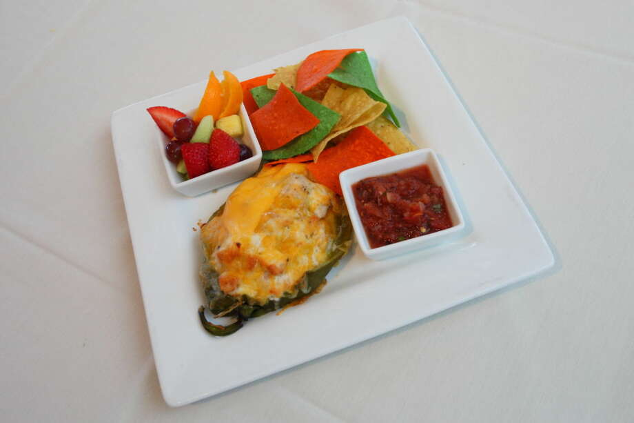 """Chicken Salad Chile Rellenofrom Cafe at the Gardens photographed for """"11 Essential Restaurants"""" in the Sept. 27, 2015 issue of Midland Magazine. Photo by Curtis Routh"""