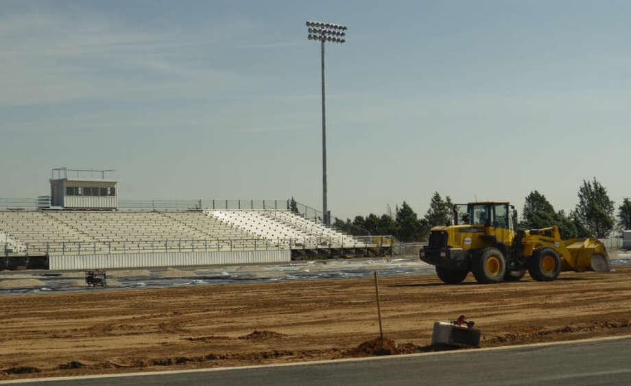 Greenwood stadium is still under construction as school gets started. Tim Fischer\Reporter-Telegram Photo: Tim Fischer