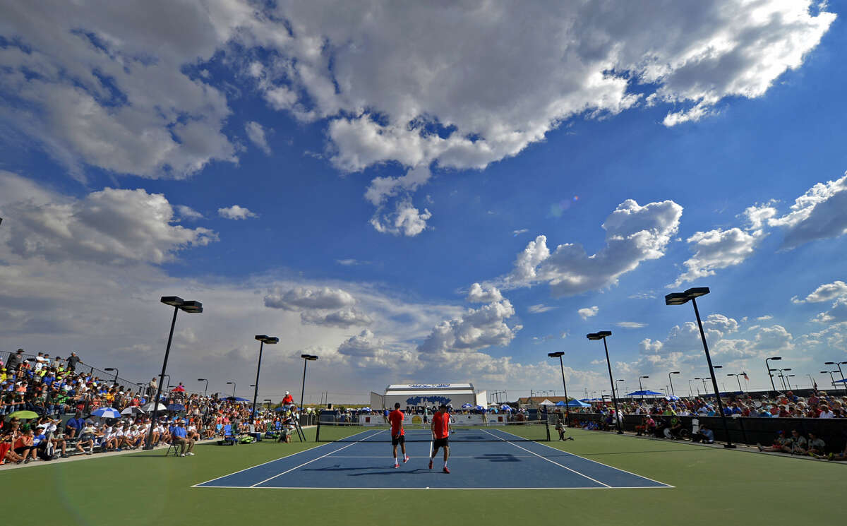 A packed Bush Tennis Center hosted the West Texas Tennis Classic on Saturday, Sept. 26, 2015, at James Durbin/Reporter-Telegram