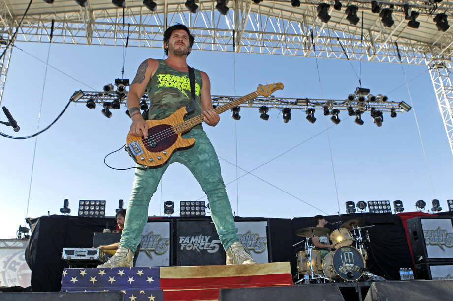 "The band ""Family Force 5"" performs during Rock The Desert on Saturday. James Durbin/Reporter-Telegram Photo: JAMES DURBIN"