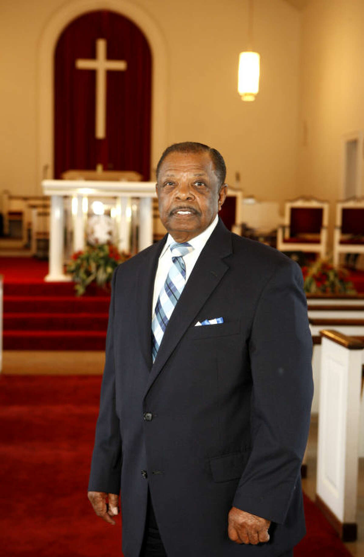 Rev. William C. Kenan poses for a picture at Faith Temple Church of God in Christ on Tuesday. James Durbin/Reporter-Telegram