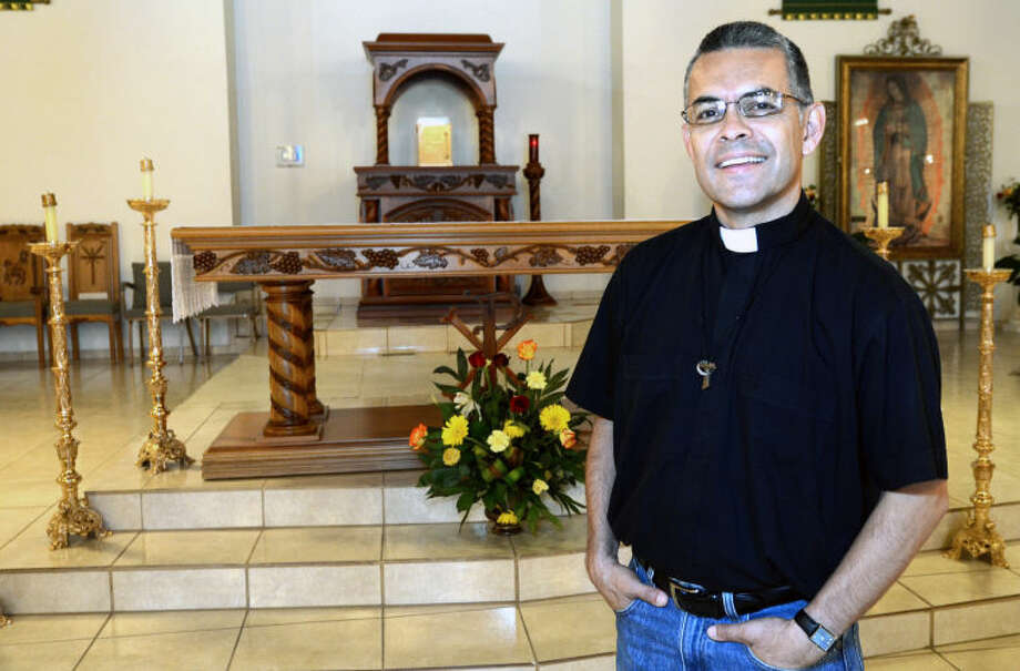 Father David Herrera is the new priest at Our Lady of Guadalupe Parish and Shrine in Midland. James Durbin/Reporter-Telegram Photo: JAMES DURBIN
