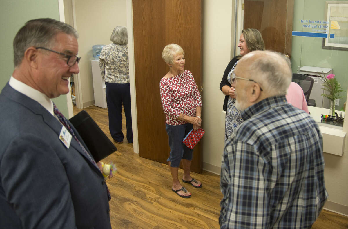 Residents and vistors look around the newly opened FMH Foundation Medical Clinic at Manor Park Monday 9-21-2015. Tim Fischer\Reporter-Telegram