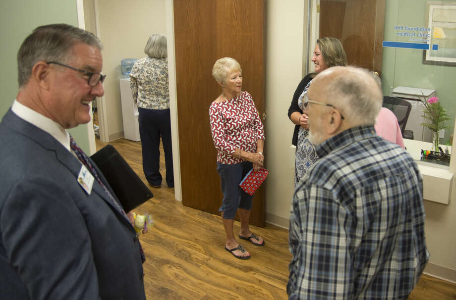 Residents and vistors look around the newly opened FMH Foundation Medical Clinic at Manor Park Monday 9-21-2015. Tim Fischer\Reporter-Telegram Photo: Tim Fischer