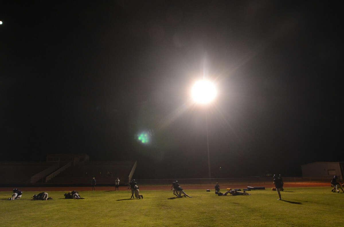 Trinity Midnight Madness practice early Thursday morning. James Durbin/Reporter-Telegram