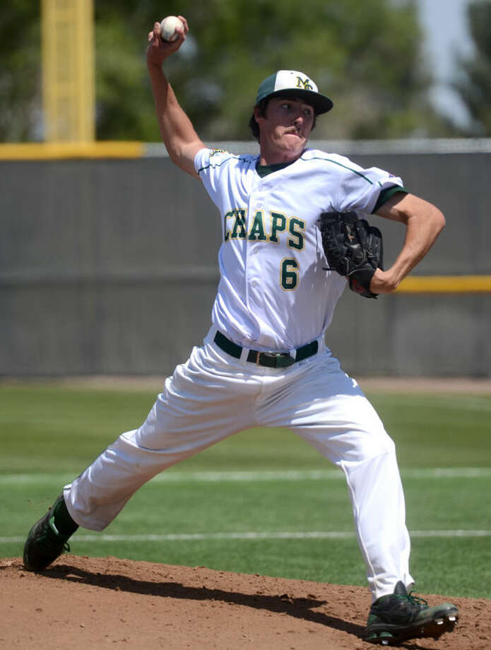 Midland College's Jason Zgardowski is seen here pitching against Clarendon last month at Christensen Stadium. James Durbin/Reporter-Telegram Photo: JAMES DURBIN