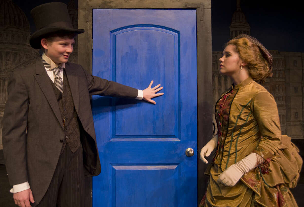Josh Maguire as Henry Jekyll has a confrontation with Carley Venter as Elizabeth Jelkes in Pickwick Players production of Dr. Jekyll and Mr. Hyde. Tuesday 9-22-2015. Tim Fischer\Reporter-Telegram
