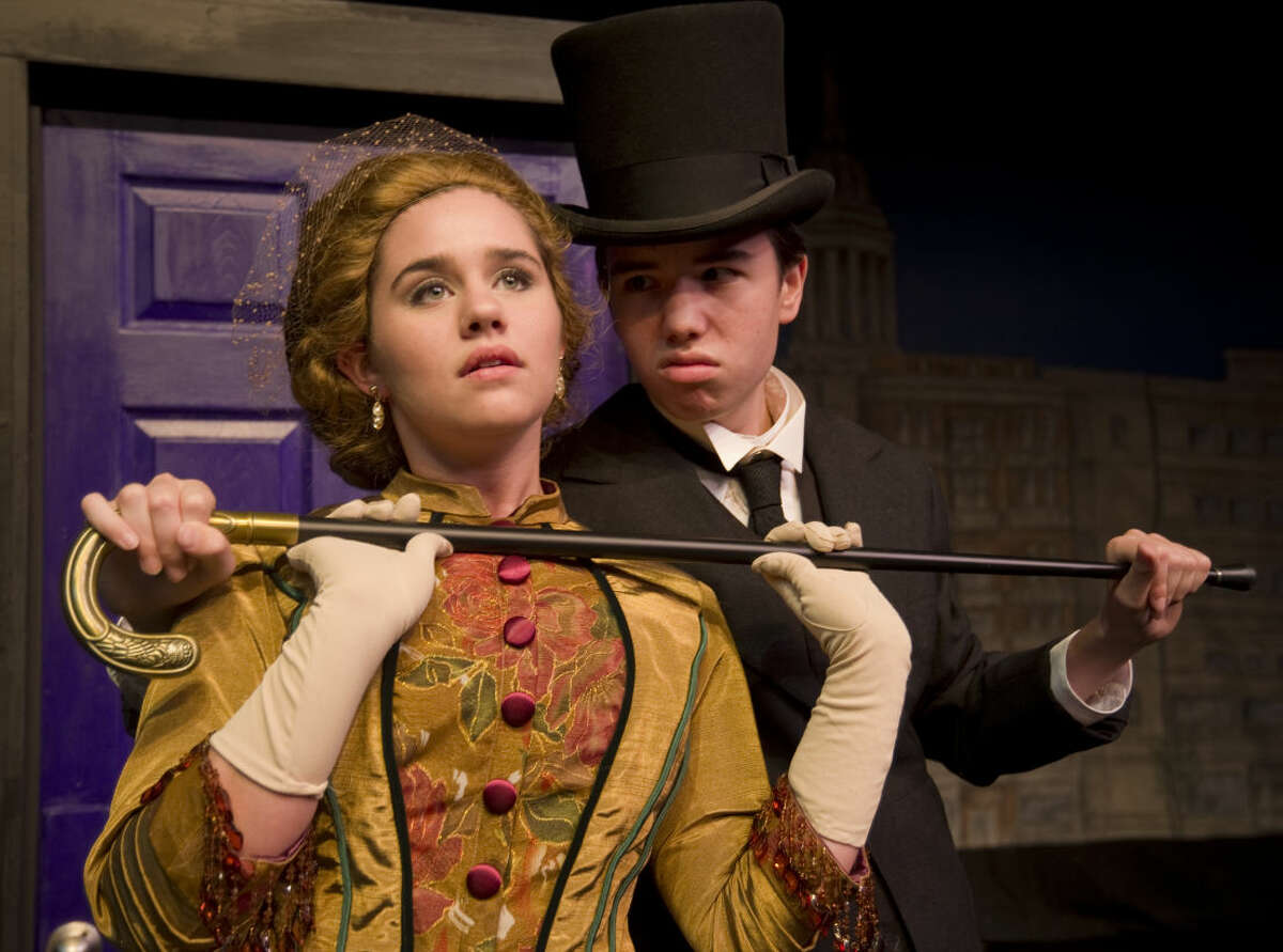The sinister Mr. Hyde, played by Jordan Sanz, attacks Carley Venter as Elizabeth Jelkes in Pickwick Players production of Dr. Jekyll and Mr. Hyde. Tuesday 9-22-2015. Tim Fischer\Reporter-Telegram