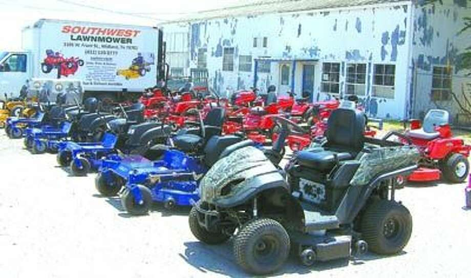 Test drive a Dixon ZTR mower today at Southwest Lawnmower, 3105 W. Front in Midland. They're across from McCoy's lumber.