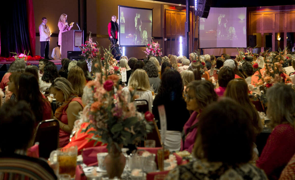 Models display outfits provided by Julian Gold Thursday 10-1-2015 at the Pink the Basin luncheon. Tim Fischer\Reporter-Telegram