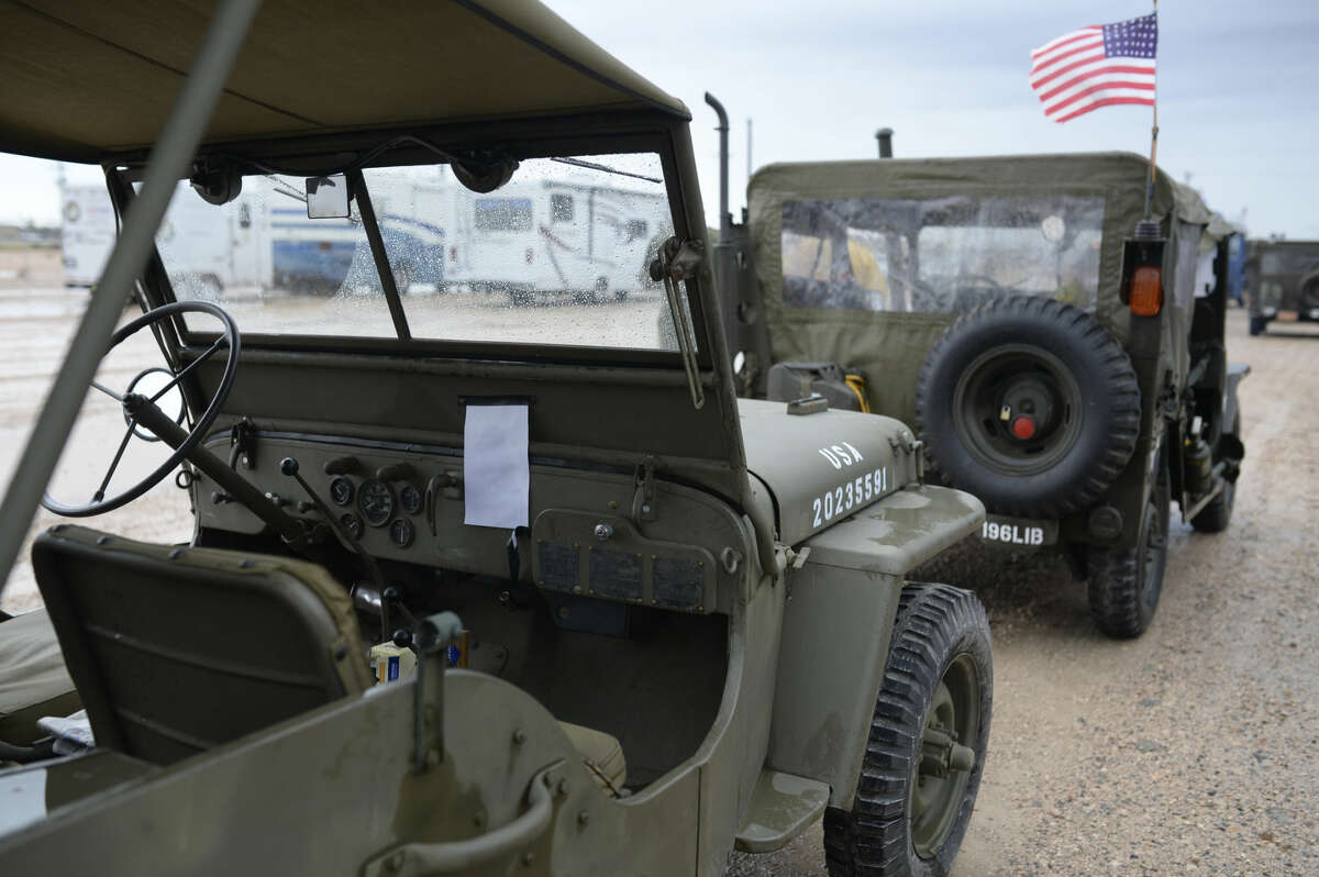 The Military Vehicle Preservation Association (MVPA.org) is conducting a 95th Anniversary convoy with historic military vehicles from Washington, D.C. to San Diego, CA. They made a stop in Midland on Thursday, Oct. 8, 2015. James Durbin/Reporter-Telegram