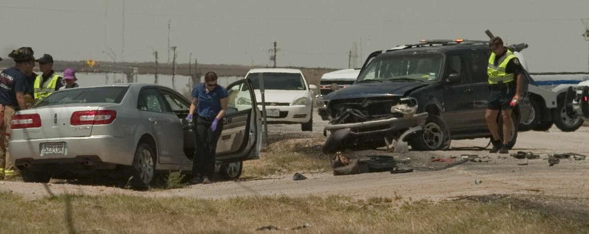 Officials investigate a fatal accident on 1788 Thursday afternoon. Tim Fischer\Reporter-Telegram