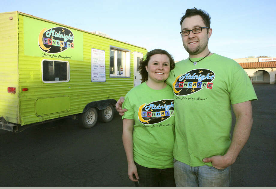 Kimberly Vandiver and Wesley Herard are the owners of the food truck business Midnight Munchies. Cindeka Nealy/Reporter-Telegram Photo: Cindeka Nealy