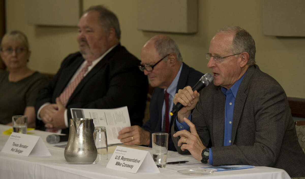 U.S. Representative Mike Conaway speaks Monday 9-21-2015 as part of a panel discussion on the state of Alzheimers. Tim Fischer\Reporter-Telegram