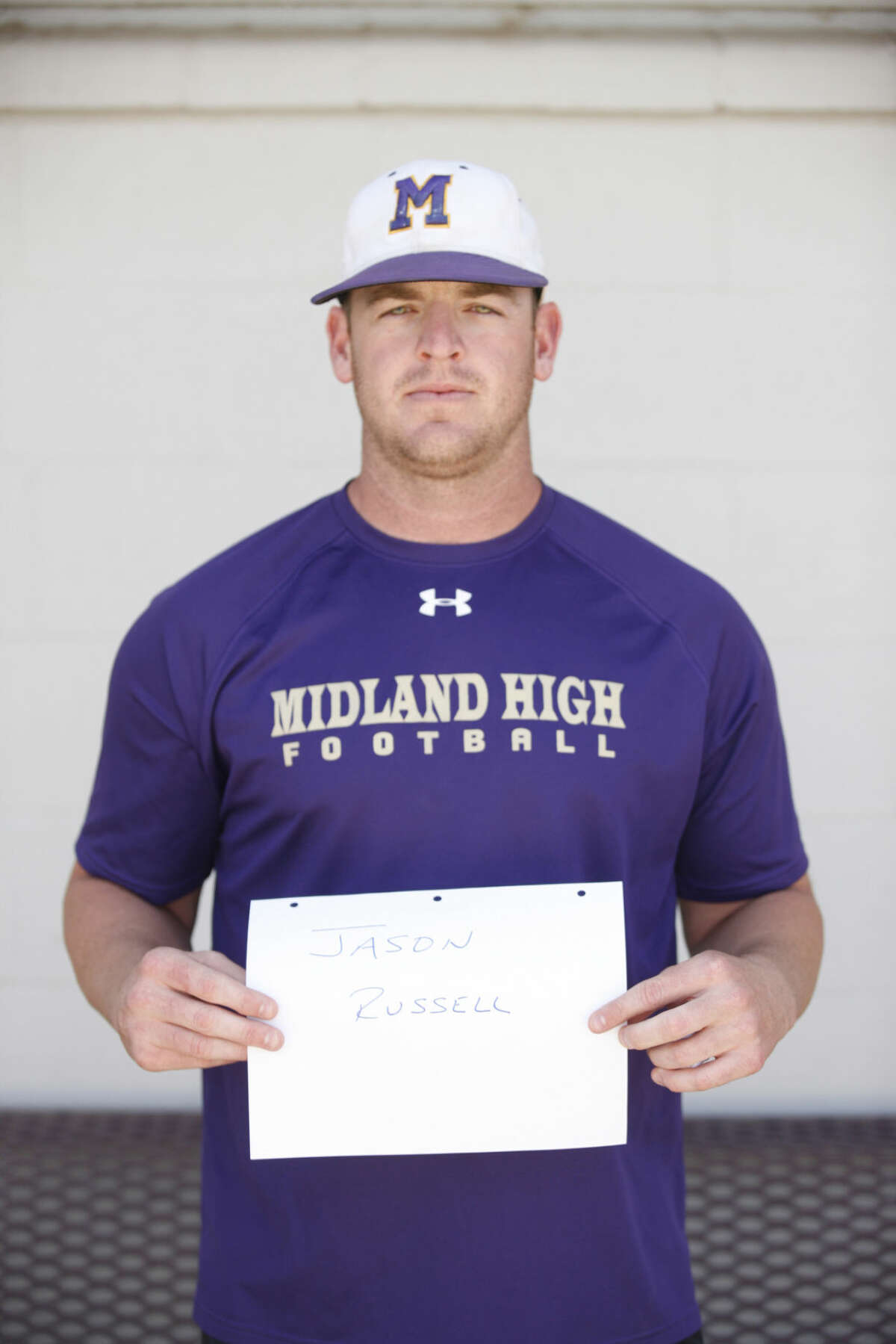 Midland High Varsity Football mug coach Jason Russell