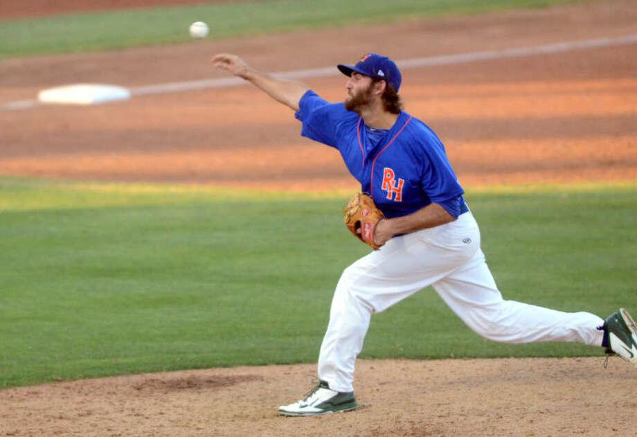 Rockhounds' Chris Jensen pitches against San Antonio on Wednesday at Security Bank Ballpark. James Durbin/Reporter-Telegram Photo: James Durbin