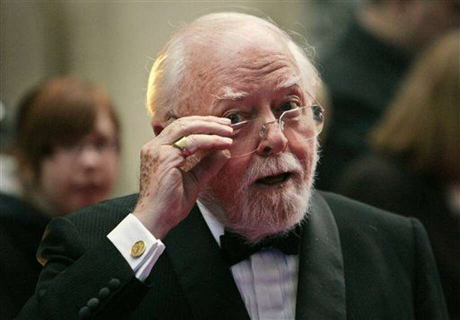 FILE - In this Wednesday, April 9, 2008 file photo, British actor and director Richard Attenborough arrives at the Galaxy British Book Awards in London. Acclaimed actor and Oscar-winning director Richard Attenborough, whose film career on both sides of the camera spanned 60 years, died on Sunday, Aug. 24, 2014. He was 90. (AP Photo/Lefteris Pitarakis, File) Photo: Lefteris Pitarakis