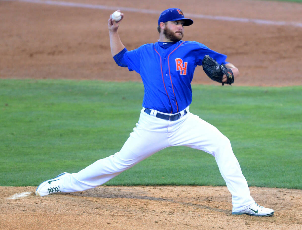 RockHounds starting pitcher Nate Long throws against Corpus Christi on Friday at Security Bank Ballpark. James Durbin/Reporter-Telegram