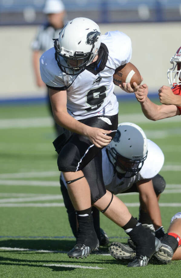 Forsan's Zane Sanders runs the ball against Coahoma Thursday at Grande Communications Stadium. James Durbin/Reporter-Telegram Photo: JAMES DURBIN