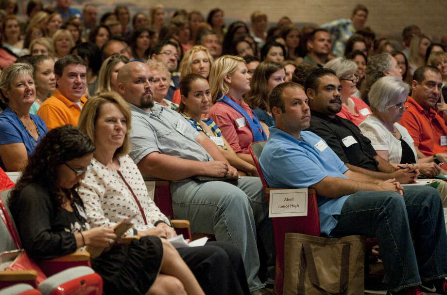 More than 360 new MISD employees attended teacher orientation Aug. 11   at Lee High School. Photo: Tim Fischer\Reporter-Telegram