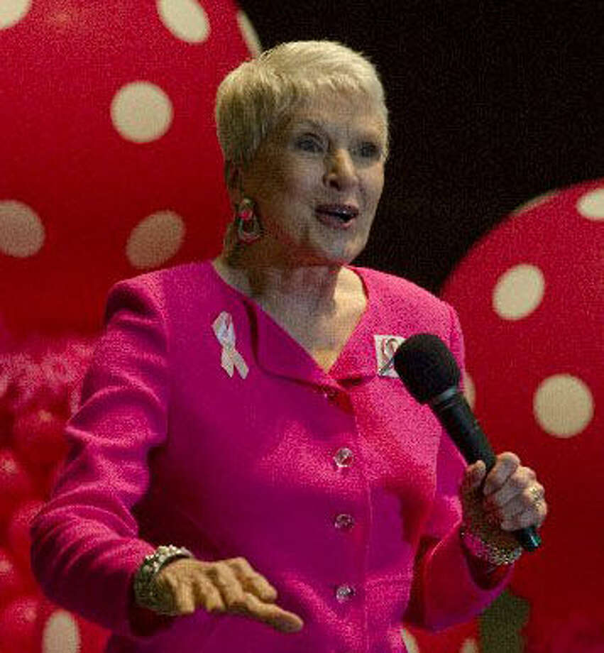 Comedian and speaker Jeanne Robertson, seen at the annual Pink the Basin event, is to perform Sunday at Wagner Noel Performing Arts Center. Photo:  File Photo