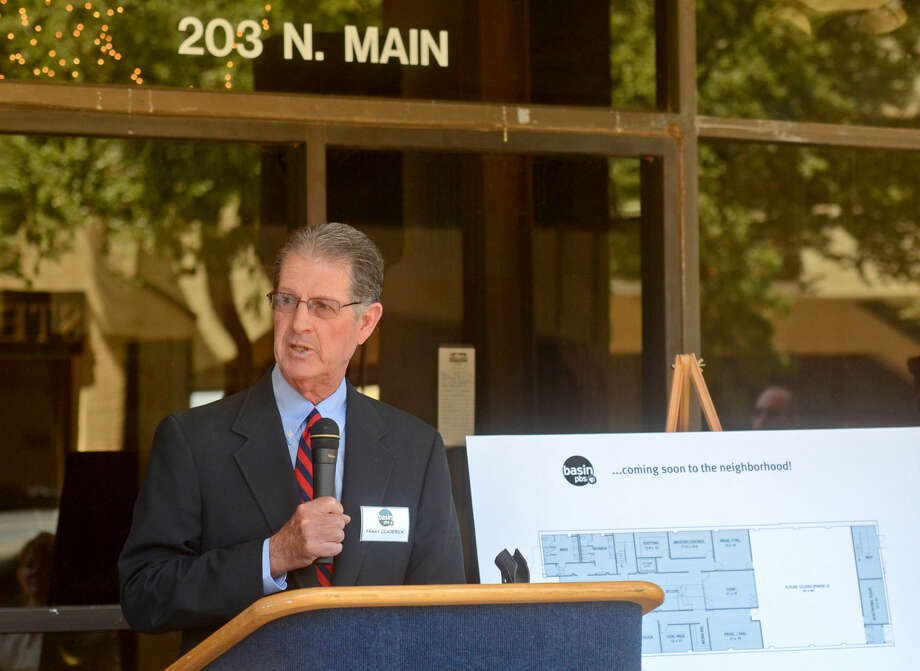 Frank Deaderick, Basin PBS Board Chair, speaks during a press conference announcing the Ritz Theater as the new home for Basin PBS on Tuesday. James Durbin/Reporter-Telegram Photo: James Durbin