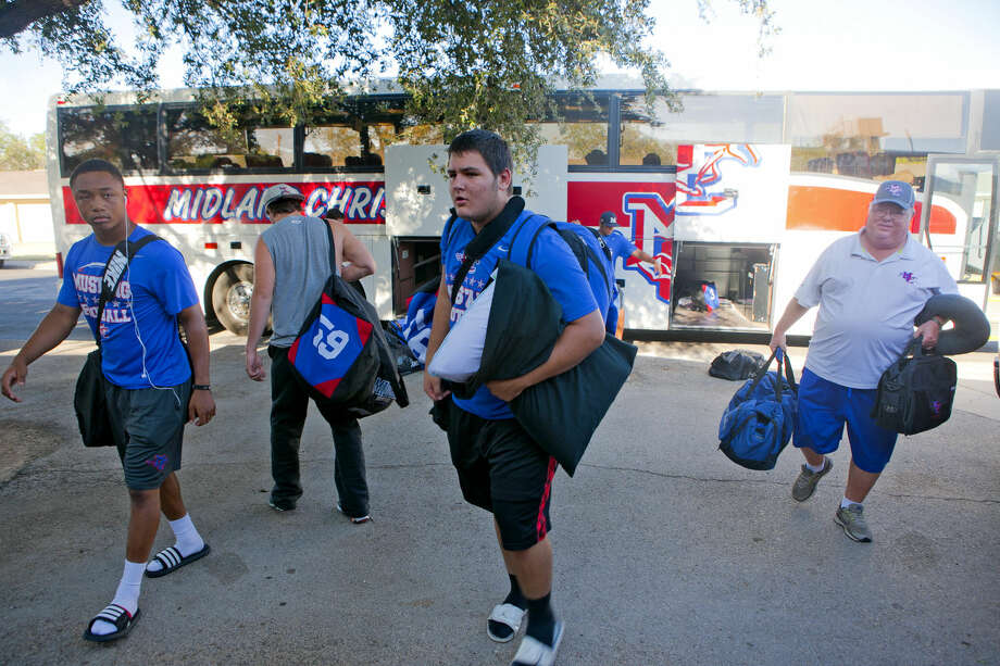 The Midland Christian football team returned to Midland after a road trip to Arkansas. James Durbin/Reporter-Telegram Photo: James Durbin