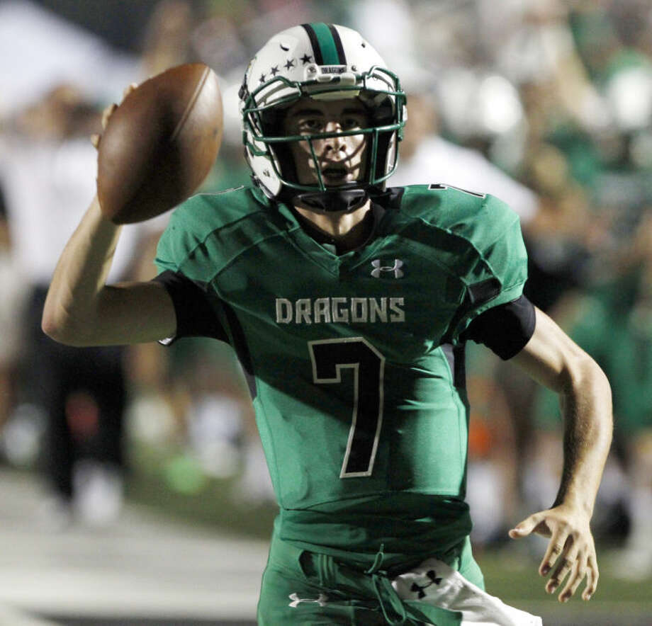 Carroll quarterback Ryan Agnew scores a touchdown against Midland Lee Friday, September 6, 2013. (Star-Telegram/ Richard W. Rodriguez) Photo: Richard W. Rodriguez