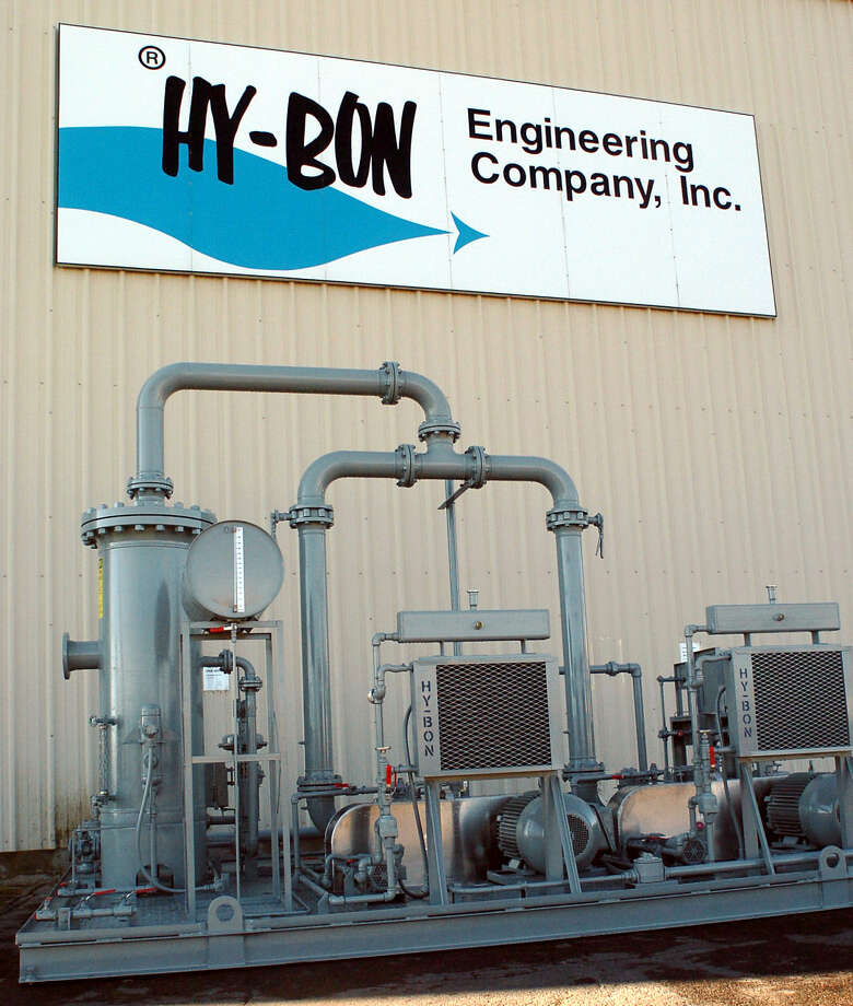 A vapor recovery unit sits outside Hy-Bon in Midland. Photo by Kris J. Murante 11/3