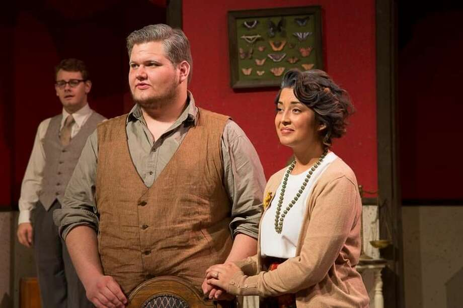 From left, OC students Anthony Vickery, Jacob Corman and Blake Rogers perform in 'You Can't Take It With You.' Photo: Courtesy Photo