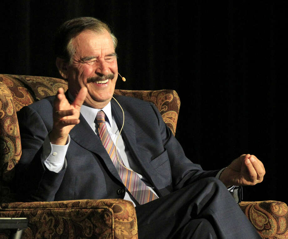Vicente Fox, former President of Mexico, speaks on Tuesday as part of the Davidson Distinguished Lecture Series at Midland College's Chaparral Center. James Durbin/Reporter-Telegram Photo: James Durbin