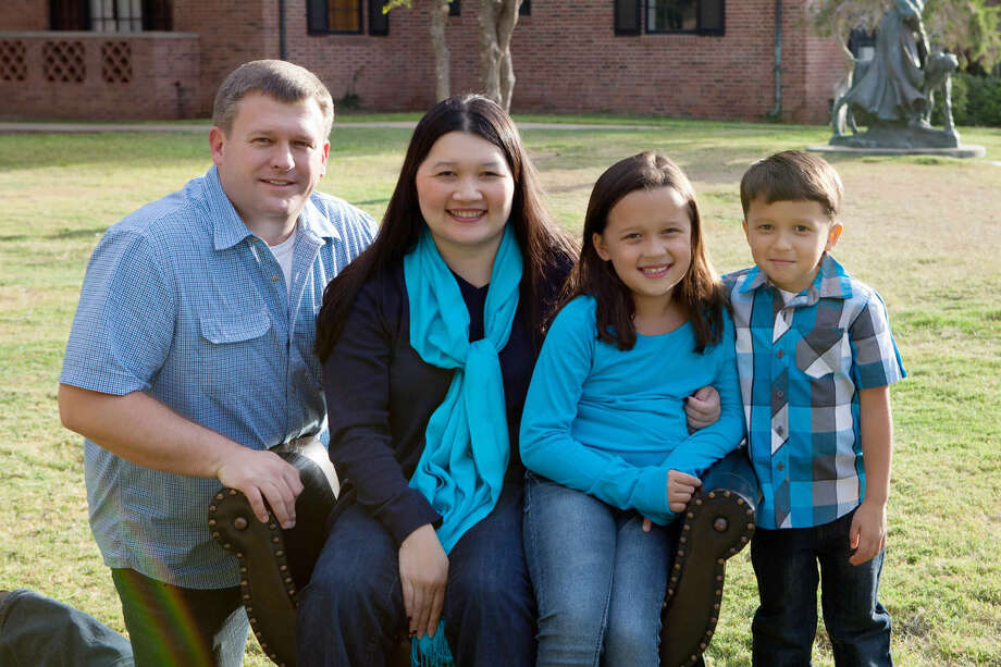 The Samaritan Counseling Center of West Texas named the Johnsons this year's Family of the Year. Pictured from left are Steve, Mai, Kate and Ben. Photo: Courtesy Photo