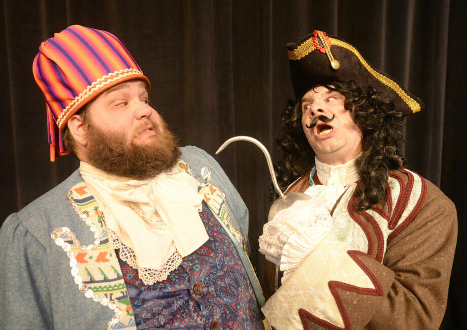 "Smee (Daniel Collins) and Captain Hook (Joe Jung) during rehearsal for the upcoming MCT production ""Peter Pan"" on Thursday, Nov.6, 2015, at Midland Community Theatre. James Durbin/Reporter-Telegram Photo: James Durbin"