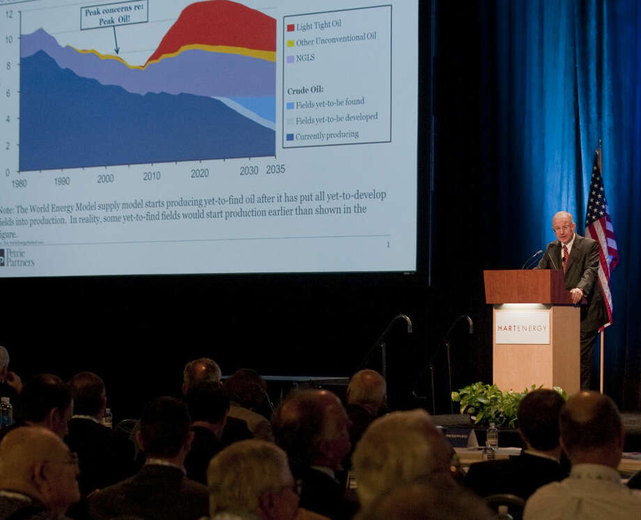 Tom Petrie speaks Tuesday during the afternoon session at the Executive Oil Conference. Tim Fischer\Reporter-Telegram Photo: Tim Fischer