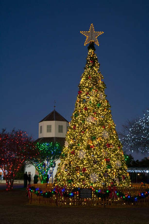 Community Christmas Tree atMarktplatz in Fredericksburg. Photo by T. Rawls