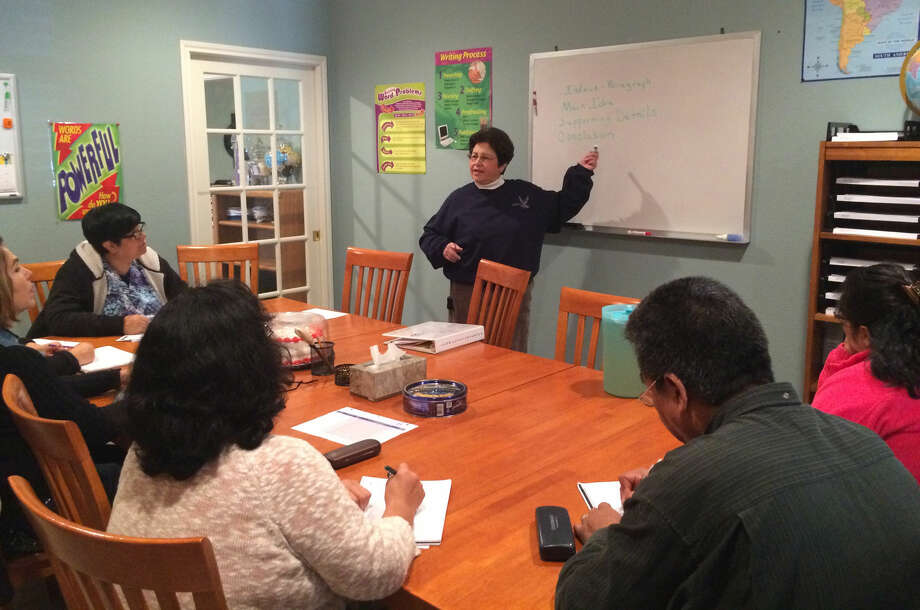 Virginia Conner teaches an intermediate ESL class at the Midland Need to Read Literacy House. Photo: Courtesy Of Midland Need To Read