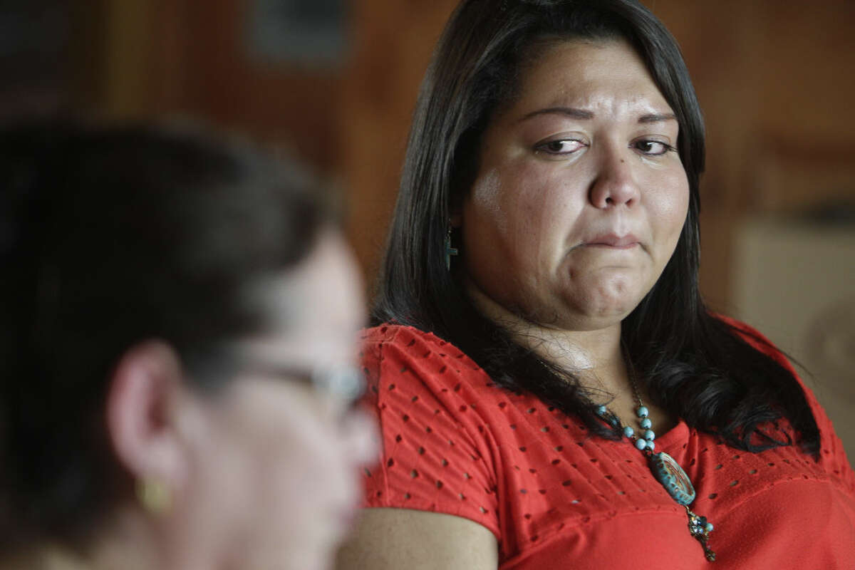 *** LISE OLSON STORY TO BE PUBLISHED IN SEPTEMBER *** Frances Quintanilla mourns the death of her father, Guadalupe Quintanilla, who was killed in a head-on collision caused by commercial driver who was dispatched to the Eagle Ford in a truck with bald tires on May 28, 2014, in Harligen, Tx. The two drivers lost their lives in the accident when the commercial driver lost control of his truck. The Quintanilla family filed a wrongful death lawsuit against Turn Around Trucking, who copied and pasted a safety manual from a Houston based hauling company and handed it to drivers. ( Mayra Beltran / Houston Chronicle )