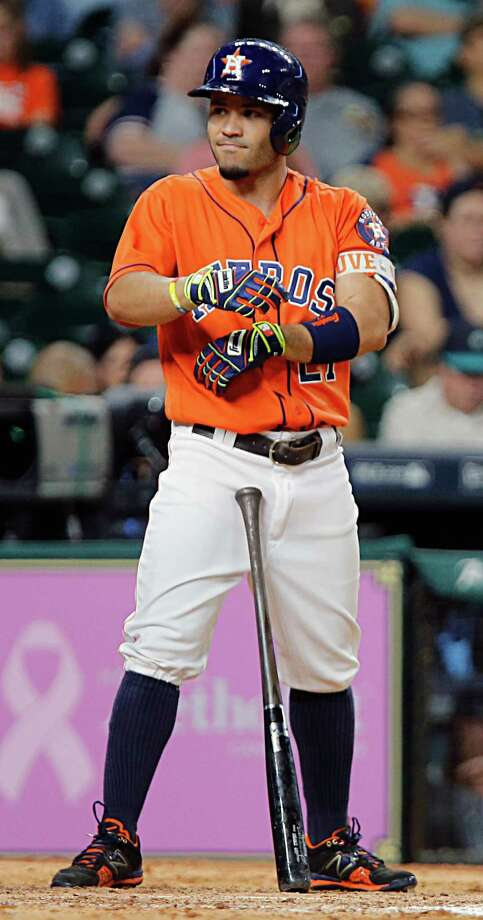 Jose Altuve out of starting lineup with sore finger ...