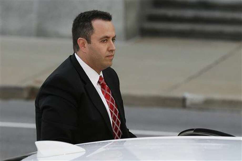 Former Subway pitchman Jared Fogle arrives at the federal courthouse in Indianapolis, Thursday, Nov. 19, 2015. Fogle is due to formally plead guilty and be sentenced on charges of trading child pornography and paying for sex with minors. (AP Photo/Michael Conroy) Photo: Michael Conroy