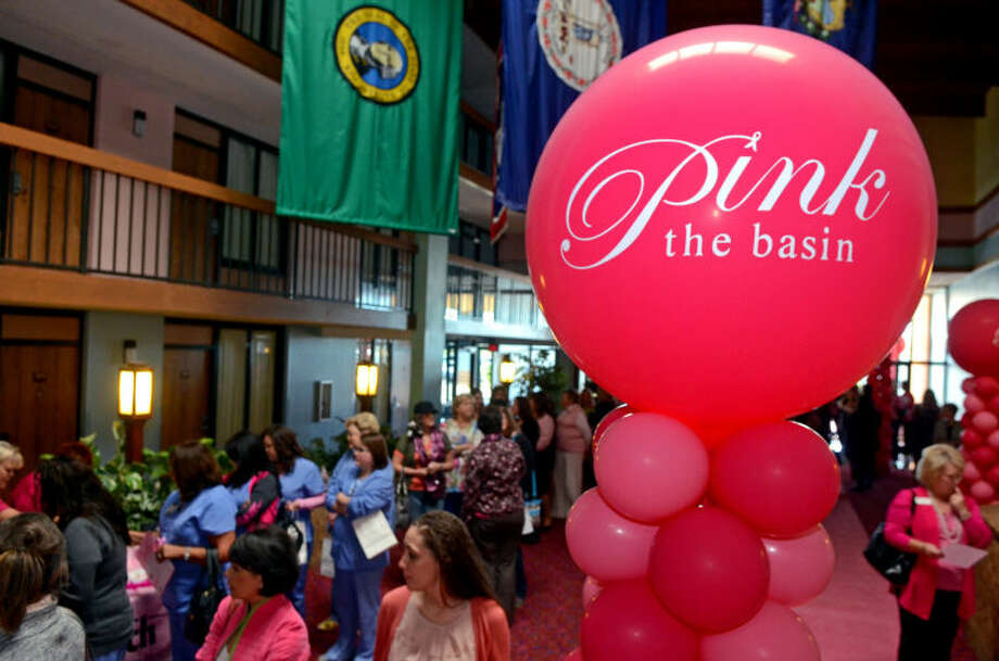 "Seventh annual Pink The Basin luncheon at the MCM FunDome featuring guest speaker Geralyn Lucas, author of ""Why I Wore Lipstick To My Mastectomy."" James Durbin/Reporter-Telegram Photo: JAMES DURBIN"