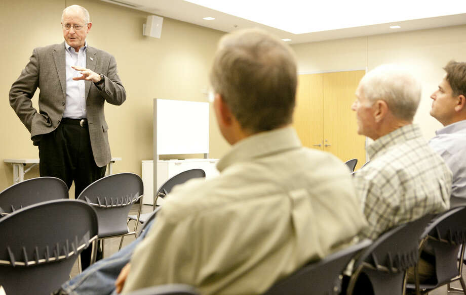 Congressman Michael Conaway (R-Texas) held a town hall meeting Oct. 1 at the Midland County Public Library Centennial branch. James Durbin/Reporter-Telegram Photo: James Durbin