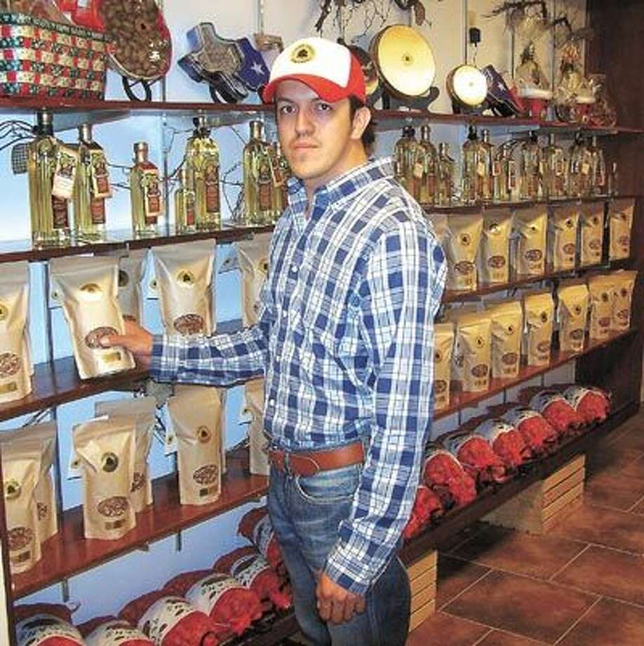"Silviano Garcia says Texas ""Howdy"" gifts and treats are at Pecan Tree Partners, at 4601 N. County Road 1162 just off Loop 250 east in Midland."