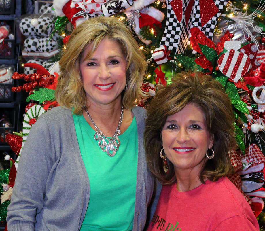 Kathy Harrison and Becky McCraney, Miss Cayce's Christmas Store owners, photographed for the Nov. 22, 2015 edition of Midland Magazine. Photo by Curtis Routh