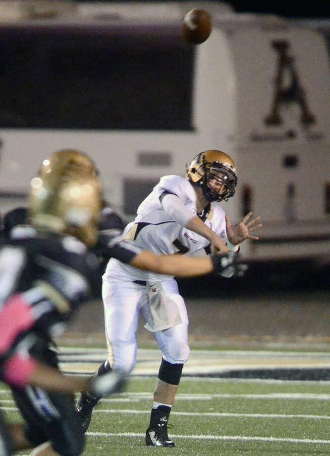 Andrews quarterback Jase Hammack (7) throws against Big Spring on Friday at Memorial Stadium in Big Spring. James Durbin/Reporter-Telegram Photo: James Durbin