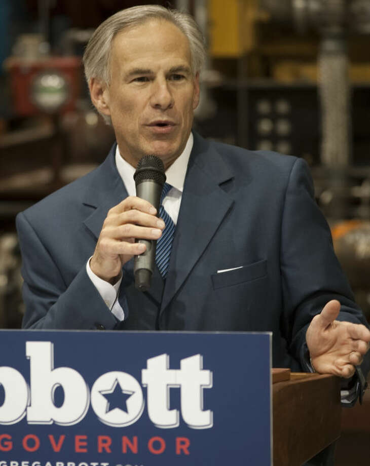 Texas Attorney General Greg Abbott is seen at a campaign stop at Compressor Systems in November. Local supporters of Democratic gubernatorial candidate Wendy Davis on Thursday blamed Abbott, the Republican candidate, for the critical findings state auditors discovered when examining the Texas Enterprise Fund. Photo: Tim Fischer/Reporter-Telegram