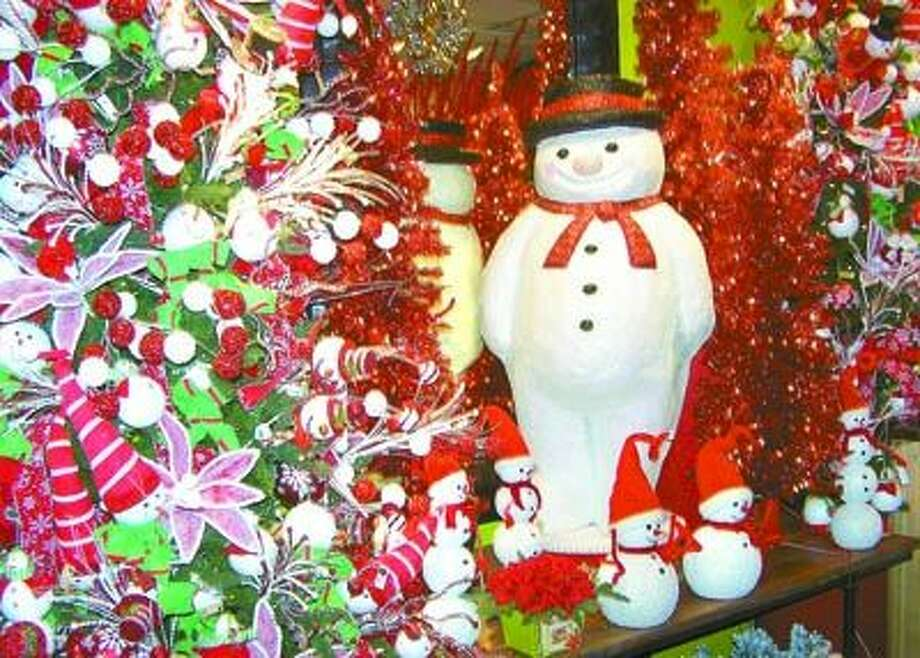 Frosty and his friends are looking forward to getting to go with you and add festive cheer to your Christmas decorations. December 1-5 you'll save 25 percent on all snowman items at Flowerland, 413 Andrews Highway in Midland.